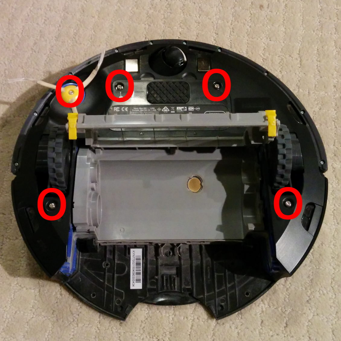 Roomba cleaning   Living Without the Bunnies